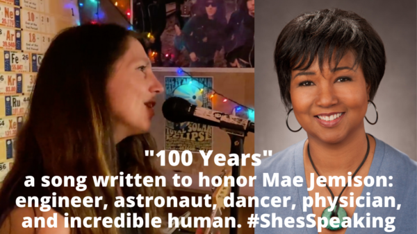 """100 Years Karen McF YouTube thumbnail e1615185317650 - """"100 Years"""": a song I wrote for Dr. Mae Jemison"""